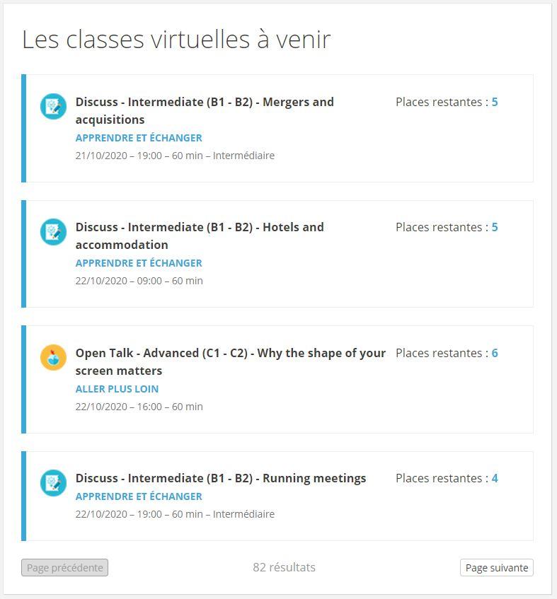 classes virtuelles linguistique